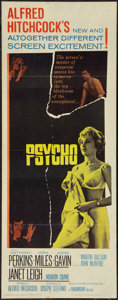 "Movie Posters:Hitchcock, Psycho (Paramount, 1960). Insert (14"" X 36""). Hitchcock.. ..."