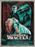 "Movie Posters:Horror, Horror of Dracula (Universal International, 1958). French Grande (47"" X 63""). Horror.. ..."