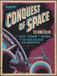"""Conquest of Space (Paramount, 1955). Poster (30"""" X 40""""). Science Fiction"""
