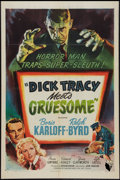 "Movie Posters:Crime, Dick Tracy Meets Gruesome (RKO, 1947). One Sheet (27"" X 41"").Crime.. ..."