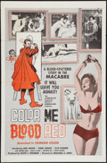 """Movie Posters:Horror, Color Me Blood Red (Jacqueline Kay, Inc., 1965). One Sheet (27"""" X 41""""). Horror.. ..."""