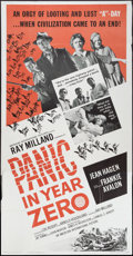 """Movie Posters:Science Fiction, Panic in Year Zero (American International, 1962). Three Sheet (41"""" X 81""""). Science Fiction.. ..."""