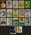 Autographs:Sports Cards, Baseball Greats Signed Cards Lot Of 17....