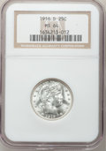 Barber Quarters: , 1916-D 25C MS64 NGC. NGC Census: (406/223). PCGS Population (499/407). Mintage: 6,540,800. Numismedia Wsl. Price for proble...