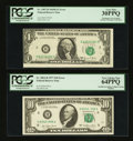 Error Notes:Error Group Lots, Fr. 1907-B $1 1969D Federal Reserve Note. PCGS Very Fine 30PPQ..Fr. 2023-H $10 1977 Federal Reserve Note. PCGS Very Choice Ne...(Total: 2 notes)