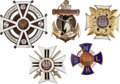 "Militaria:Insignia, Poland: Five Polish Army and Navy Badges, including: Polish Navy""Orp Kopernik"" badge, three-piece construction, silvere..."