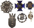 Militaria:Insignia, Poland: Six Polish Army Badges, including: 1st Grenadier Division,silvered metal, unmarked; 1st Carpathian Transporta...