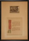 Military & Patriotic:Civil War, Framed Group of Two Items Related to Maj. William Worthington Russell....