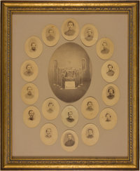 """Great Composite Albumen Photograph of the """"Iron Brigade"""" Band from the Personal Effects of Nathan Jacobs of th..."""