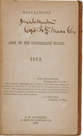 Military & Patriotic:Civil War, [Confederate Imprint] Regulations For the Army of the Confederate States, 1862....