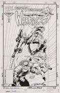 Original Comic Art:Covers, Darick Robertson and Larry Mahlstedt The New Warriors #49Cover Original Art (Marvel, 1994)....