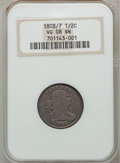 Half Cents: , 1808/7 1/2 C VG8 NGC. NGC Census: (2/24). PCGS Population (3/53).Mintage: 400,000. Numismedia Wsl. Price for problem free ...
