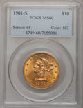 Liberty Eagles: , 1901-S $10 MS60 PCGS. PCGS Population (415/14878). NGC Census:(211/16116). Mintage: 2,812,750. Numismedia Wsl. Price for p...