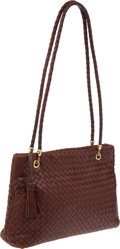 Luxury Accessories:Bags, Bottega Veneta Vintage Brown Leather Woven Bag. ...