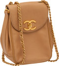 Luxury Accessories:Bags, Chanel Vintage Beige Caviar Leather Small Bag with Long Strap. ...
