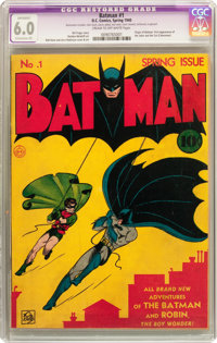 Batman #1 (DC, 1940) CGC Apparent FN 6.0 Extensive (P) Cream to off-white pages