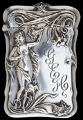 Silver Smalls:Match Safes, A BATTIN SILVER AND SILVER GILT MATCH SAFE . Battin & Co.,Newark, New Jersey, circa 1900. Marks: (trident with B),STERLI...