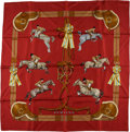 "Luxury Accessories:Accessories, Hermes Silk Scarf, ""Jumping,"" by LeDoux. ..."