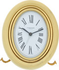 Luxury Accessories:Home, Cartier Pale Yellow Vintage Table Clock. ...