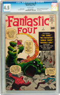 Silver Age (1956-1969):Superhero, Fantastic Four #1 (Marvel, 1961) CGC VG+ 4.5 Off-white pages....