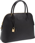 Luxury Accessories:Bags, Hermes 31cm Black Ardennes Leather Rigide Bolide Bag with GoldHardware. ...