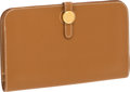 Luxury Accessories:Accessories, Hermes Gold Togo Leather Dogon Wallet and Accessories Pouch with Gold Hardware. ...