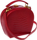 Luxury Accessories:Bags, Lana Marks Shiny Red Crocodile Bag. ...