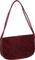 Luxury Accessories:Bags, Bottega Veneta Rare Vintage Burgundy Woven Pony Hair Bag. ...