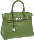 Luxury Accessories:Bags, Hermes 30cm Pelouse Swift Leather Birkin Bag with Palladium Hardware. ...