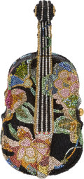 Luxury Accessories:Bags, Judith Leiber Full Bead Multicolor Cello Minaudiere Evening Bag,#53. ...