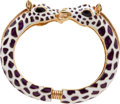 Luxury Accessories:Accessories, Kenneth J Lane Zebra Bangle Bracelet. ...