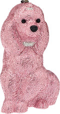 Luxury Accessories:Bags, Timmy Woods Full Bead Bright Pink Oversize Poodle MinaudiereEvening Bag. ...