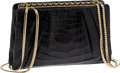 Luxury Accessories:Bags, Judith Leiber Black Alligator Bag. ...