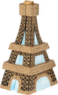 Luxury Accessories:Bags, Timmy Woods Famous Eiffel Tower Large Minaudiere Evening Bag. ...