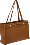 Luxury Accessories:Bags, Hermes Gold Clemence Leather Cabana Bag with Palladium Hardware....