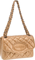 Luxury Accessories:Bags, Chanel Limited Edition Copper Metallic Quilted Logo Flap Bag. ...