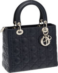 Luxury Accessories:Bags, Christian Dior Navy Cannage Leather Lady D Bag. ...