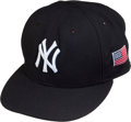 Baseball Collectibles:Uniforms, 2005 Derek Jeter Game Worn New York Yankees Cap from 4th Anniversary of 9/11....