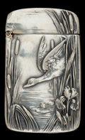 Silver Smalls:Match Safes, AN UNGER BROTHERS SILVER MATCH SAFE . Unger Bros., Newark, NewJersey, circa 1900. Unmarked. 2-3/8 inches high (6.0 cm). .82...