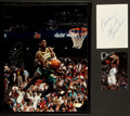 Basketball Collectibles:Others, Stackhouse, Chamberlain and Kemp Signed Memorabilia Lot of 3....