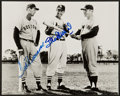 Baseball Collectibles:Photos, Stan Musial and Ted Williams Multi Signed Photograph....