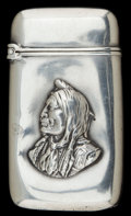 Silver Smalls:Match Safes, AN AMERICAN SILVER MATCH SAFE . Maker unknown, American, circa1880. Marks: STERLING. 2-3/8 inches high (6.0 cm). .82 tr...