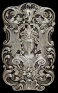Silver Smalls:Match Safes, A KERR SILVER AND SILVER GILT MATCH SAFE . Wm. B. Kerr & Co,Newark, New Jersey, circa 1880. Marks: (fasces), STERLING42...