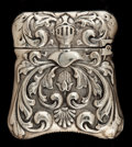 Silver Smalls:Match Safes, A SHIEBLER SILVER MATCH SAFE . George W. Shiebler & Co., NewYork, New York, circa 1887. Marks: (winged S), STERLING77...