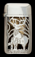 Silver Smalls:Match Safes, AN AMERICAN SILVER AND SILVER GILT MATCH SAFE . Maker unknown,American, circa 1880. Marks: SOLID SILVER. 2-1/4 inches ...