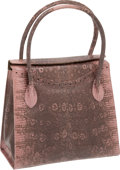 Luxury Accessories:Bags, Darby Scott Pink Ring Lizard Bag with Lavender Crystal Charms,Retail ~$3200. ...
