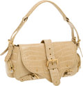 Luxury Accessories:Bags, Marc Jacobs Collection Beige Crocodile Flap Bag. ...