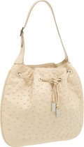 Luxury Accessories:Bags, Gucci Beige Ostrich Shoulder Bag. ...