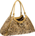 Luxury Accessories:Bags, Gucci Beige Natural Snakeskin Bag. ...