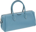 Luxury Accessories:Bags, Hermes Blue Jean Epsom Leather Paris-Bombay PM Bag. ...
